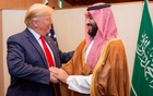 Saudi Arabia's Crown Prince Mohammed bin Salman shakes hands with US President Donald Trump, at the G20 leaders summit in Osaka, Japan, June 29, 2019. Courtesy of Saudi Royal Court/Handout via REUTERS