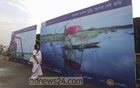 Children's organisation Ikrimikri organised a photo exhibition on rivers at four key river ports from Sep 27, 2020. Photo: Asif Mahmud Ove