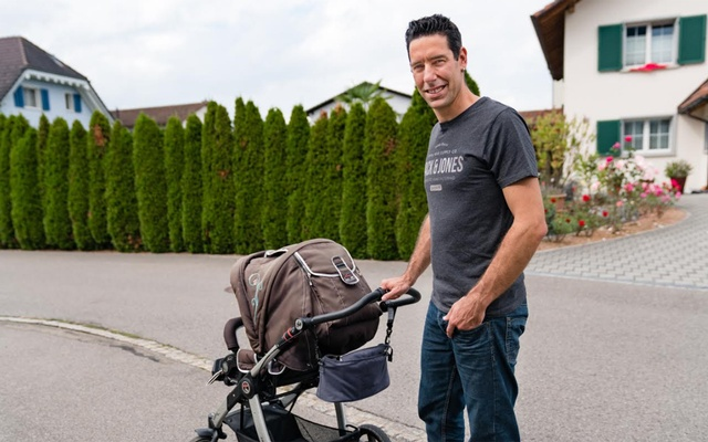 Lukas Inauen, who plans to vote against a new law that would mandate two weeks of paid paternity leave, in Siebnen, Switzerland, Sept 23, 2020. The provision was set to go into effect last year, but a group of conservative lawmakers forced it to be put to a referendum. Clara Tuma/The New York Times