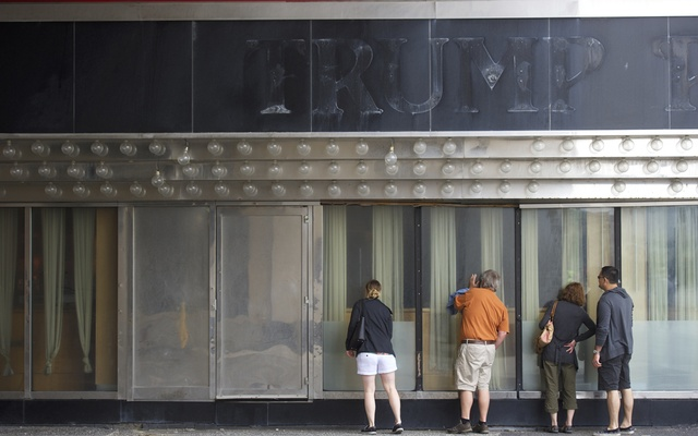 The shuttered Trump Plaza Casino in Atlantic City, NJ, June 2, 2016. President Donald Trump announced in 2009 that he was abandoning his state in his Atlantic City casino business. The New York Times Times obtained Donald Trump's tax information extending over more than two decades, revealing struggling properties, vast write-offs, an audit battle and hundreds of millions in debt coming due. (Mark Makela/The New York Times)