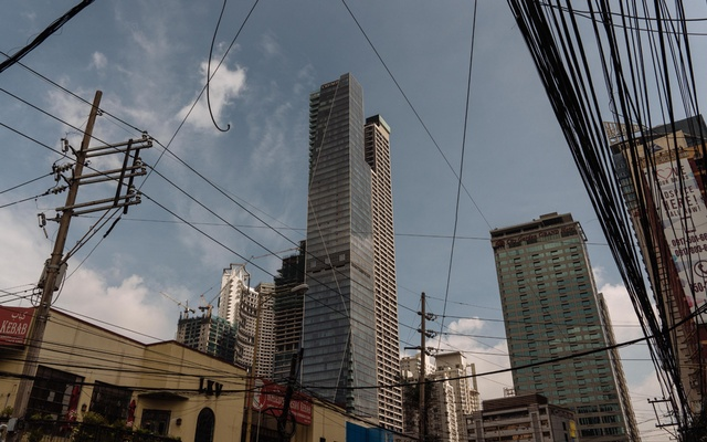 The Trump Tower Manila, which Donald Trump licensed his name to, in Manila, Philippines, Sept.24, 2020. In 2017, Trump or his companies paid $156,824 in taxes in the Philippines. The New York Times