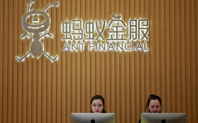 Employees are seen at the reception desk of Ant Financial Services Group, Alibaba's financial affiliate, at its headquarters in Hangzhou, Zhejiang province, China January 24, 2018. Picture taken January 24, 2018. REUTERS