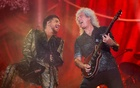 Adam Lambert (L) and Brian May of Queen perform onstage at the 2019 Global Citizen Festival at Central Park in New York, US, Sept 28, 2019. REUTERS