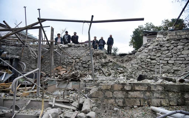 Aftermath of recent shelling during a military conflict over the breakaway region of Nagorno-Karabakh in Stepanakert October 4, 2020. Reuters