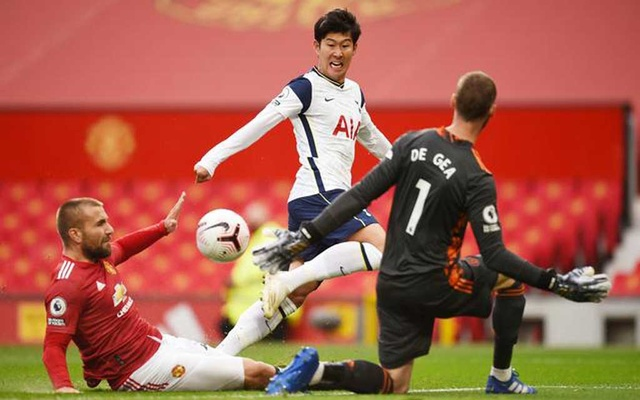 Premier League - Manchester United v Tottenham Hotspur - Old Trafford, Manchester, Britain - October 4, 2020 Tottenham Hotspur's Son Heung-min scores their second goal Pool via REUTERS
