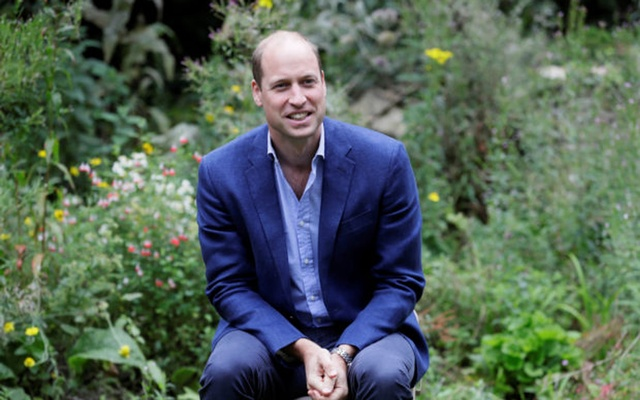 Britain's Prince William, Duke of Cambridge, speaks during a visit to the Garden House, part of the Light Project, which works on getting people safely off the streets throughout the coronavirus disease (COVID-19) outbreak, in Peterborough, Britain, July 16, 2020. Reuters