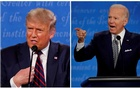 A combination picture shows US President Donald Trump and Democratic presidential nominee Joe Biden speaking during the first 2020 presidential campaign debate, held on the campus of the Cleveland Clinic at Case Western Reserve University in Cleveland, Ohio, US, September 29, 2020. Reuters