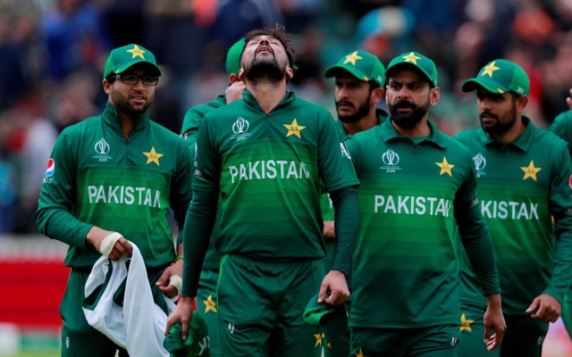 ICC Cricket World Cup - Australia v Pakistan - The County Ground, Taunton, Britain - June 12, 2019 Pakistan's Mohammad Amir and team mates after Australia's innings Action Images via Reuters