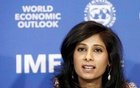 Gita Gopinath, Economic Counsellor and Director of the Research Department at the International Monetary Fund (IMF), speaks during a news conference in Santiago, Chile, July 23, 2019. Reuters