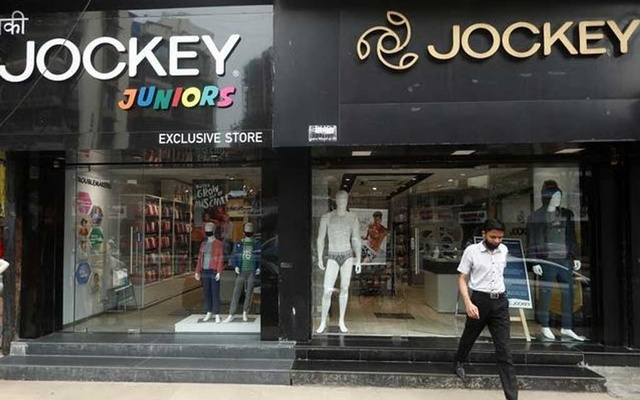 A man walks out of a Jockey outlet in Mumbai, India, October 14, 2020. Reuters