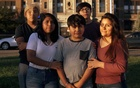The Ramirez children, who lost their parents, with their half-sister, Marlene Torres, right, who took them in, in Passaic, NJ, on Monday, Oct 12, 2020. The New York Times