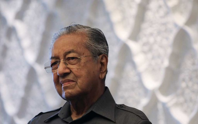 Malaysia's former Prime Minister Mahathir Mohamad reacts during an interview with Reuters in Kuala Lumpur, Malaysia, Oct 16, 2020. REUTERS