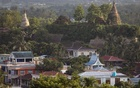 FILE PHOTO: A landscape view of the downtown with ancient pagodas in the background in Mrauk U, Rakhine state, Myanmar June 28, 2019. REUTERS/Ann Wang