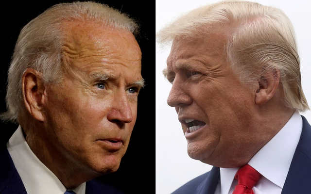A combination photo shows Democratic presidential candidate Joe Biden and US President Donald Trump. Reuters