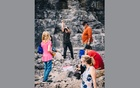 Visitors hunt for quartz crystals at Herkimer Diamond Mines, in Herkimer, NY, Oct 10, 2020. The New York Times