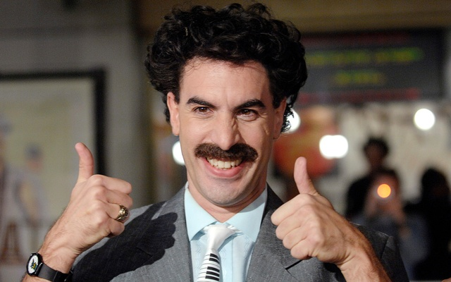 Actor Sacha Baron Cohen, who played the character Borat, arrives for the US premiere of