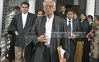 Barrister Rafique-ul Huq come out Sunday as the High Court accepted the writ challenging the legality of including into emergency powers act of extortion case against Awami League chief Sheikh Hasina. Photo: Firoz Ahmed/ bdnews24.com/ Dhaka, July 29, 2007