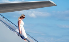 Ivanka Trump, daughter of President Donald Trump, walks off Air Force One at Joint Base Andrews, Md, on June 14th, 2020. The New York Times