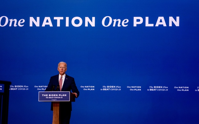 Joe Biden, the Democratic presidential nominee, speaks about his plan to beat the coronavirus, at The Queen theatre in Wilmington, Del, Friday, Oct 23, 2020. The New York Times
