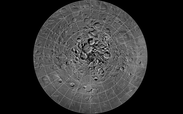 FILE PHOTO: A high resolution mosaic of our moon's north polar region is seen in this undated handout image taken by scientists using cameras aboard NASA's Lunar Reconnaissance Orbiter (LRO). REUTERS/NASA/GSFC/Arizona State University