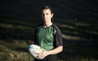 "The ruby player Grace McKenzie in San Francisco, Oct 18, 2020. ""Before rugby found me, I was at a low,"" McKenzie, 26, said, explaining that she often encountered people who disrespected her gender identity. ""In rugby, I found people who accepted me for who I am."" Laura Morton/The New York Times"