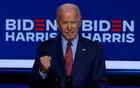 Democratic US presidential nominee and former Vice President Joe Biden makes a statement after participating in briefing about the coronavirus disease (COVID-19), in Wilmington, Delaware, US, Oct 28, 2020. REUTERS