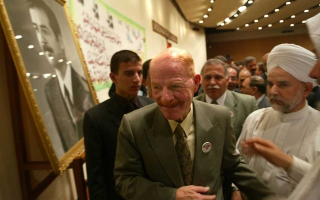 Izzat Ibrahim al-Douri, one of Saddam Hussein's top aides, in Baghdad, Oct 16, 2002. Douri, who had eluded capture for 17 years and was Hussein's right-hand man in a government that dealt brutally with Iraqi civilians and unleashed catastrophic regional wars, has died, Iraqi officials and the deceased dictator's Baath Party announced on Sunday, Oct 25, 2020. Tyler Hicks/The New York Times