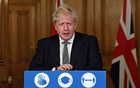 Britain's Prime Minister Boris Johnson speaks during a press conference where he is expected to announce new restrictions to help combat the coronavirus disease (COVID-19) outbreak, at 10 Downing Street in London, Britain October 31, 2020. Alberto Pezzali/Pool via REUTERS
