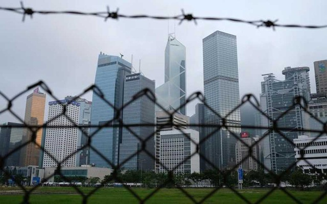FILE PHOTO: A general view of skyline buildings in Hong Kong, China May 28, 2020. REUTERS/Tyrone Siu/File Photo