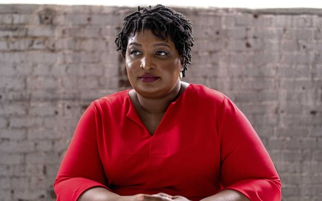 FILE -- Stacey Abrams at the Elevator Factory in Atlanta, Feb 26, 2019. Democrats believe that the voting rights and political network Abrams has constructed should get a good deal of the credit for propelling the Democratic voter turnout in Georgia. (Johnathon Kelso/The New York Times)