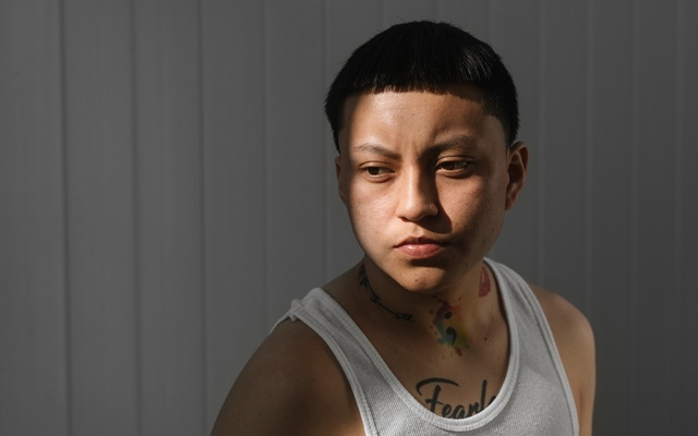 Jonathan DeJesus, 21, who is transgender and stayed in a residential treatment centre for four years, in New York, Nov 6, 2020. The New York Times