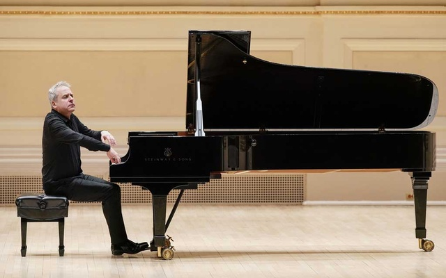 An image provided by Jennifer Taylor, via Carnegie Hall, Jeremy Denk playing on a piano provided by Carnegie Hall in New York, Feb 1, 2019. The New York Times