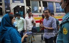 Executive Magistrate Amena Marjan led a mobile court drive to enforce mask rules at Motijheel in Dhaka on Tuesday, Nov 17, 2020 amid the coronavirus outbreak.