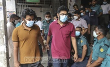 The accused in the murder case of BUET student Abrar Fahad was produced in front of Dhaka Metropolitan Session Judge's Court on Thursday, Nov 19, 2020. Photo: Asif Mahmud Ove
