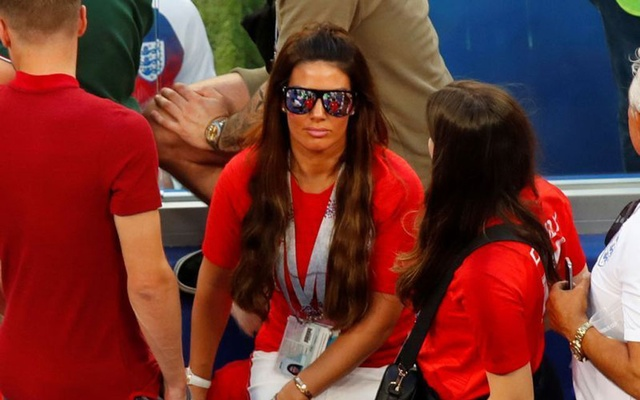 Football - World Cup - Quarter Final - Sweden vs England - Samara Arena, Samara, Russia - July 7, 2018 Wife of England's Jamie Vardy, Rebekah Vardy, in the stand after the match. Reuters