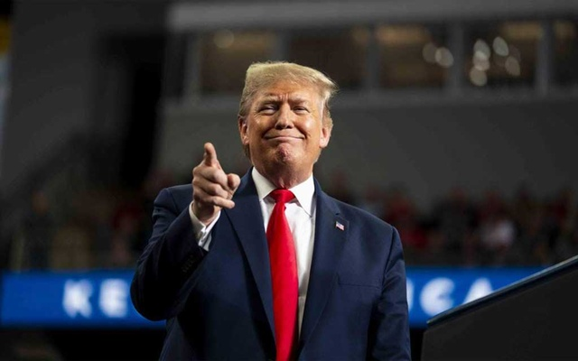 President Donald Trump at a campaign rally in Toledo, Ohio, Jan. 9, 2020. For years, we've been living inside a story defined by Donald Trump's reality-TV worldview. America finally changed the channel. (Doug Mills/The New York Times)