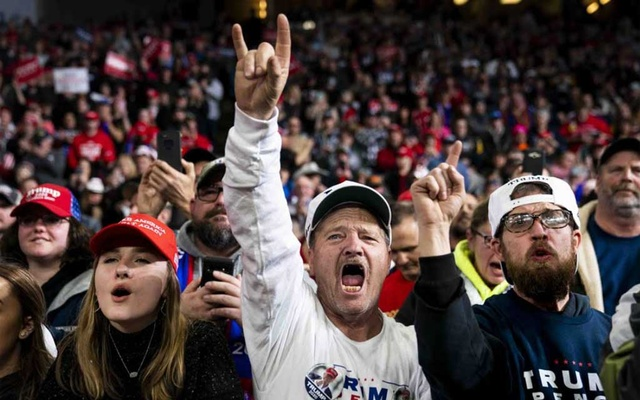 The crowd during a campaign rally for President Donald Trump in Toledo, Ohio, Jan. 9, 2020. For years, we've been living inside a story defined by Donald Trump's reality-TV worldview. America finally changed the channel. (Doug Mills/The New York Times)