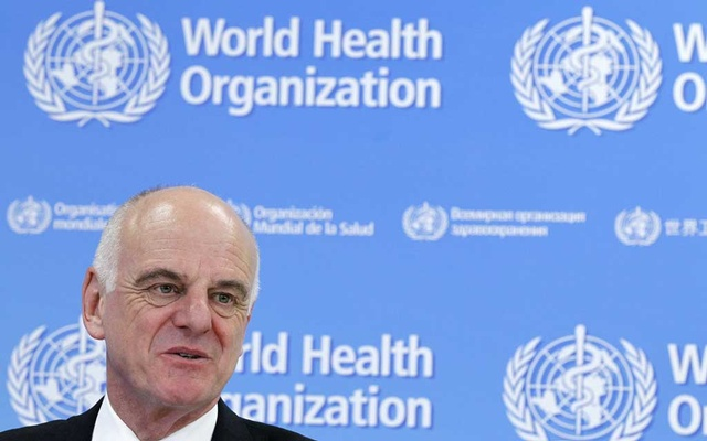 UN Secretary-General's Special Envoy for Ebola David Nabarro addresses the media on World Health Organization (WHO)'s health emergency preparedness and response capacities in Geneva, Switzerland, July 31, 2015. REUTERS