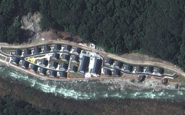 Images from December show the construction of military storage bunkers in Chinese territory near Bhutan. Satellite image ©2020 Maxar Technologies
