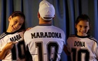 Walter Gaston Rotundo, a devoted Diego Maradona fan who named his twin daughters Mara and Dona after the football star, in Buenos Aires, Argentina, Nov 27, 2020. REUTERS