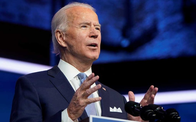 US President-elect Joe Biden announces his national security nominees and appointees at his transition headquarters in Wilmington, Delaware, US, November 24, 2020. REUTERS
