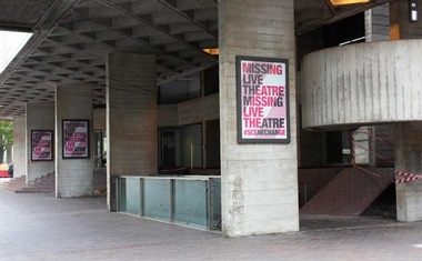 Outside the National Theatre in London, Sept 21, 2020. The New York Times