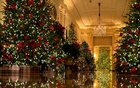Christmas decorations were set up at the White House on Monday. Credit: Doug Mills/The New York Times