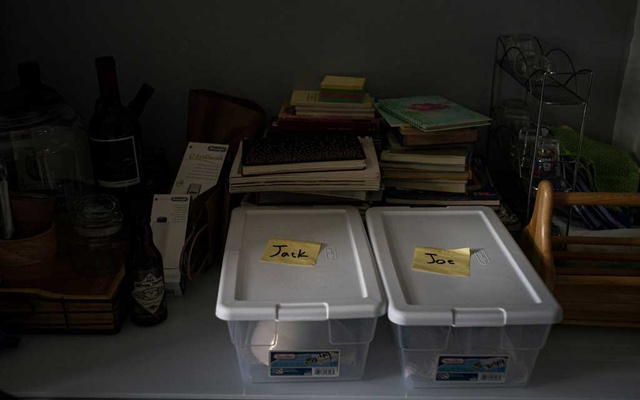The couple began keeping some items separated to avoid contamination.