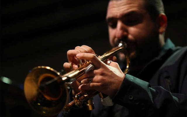 French-Lebanese trumpet player and composer Ibrahim Maalouf performs as part of Beirut Chants Festival, in Beirut, Lebanon December 4, 2020. REUTERS