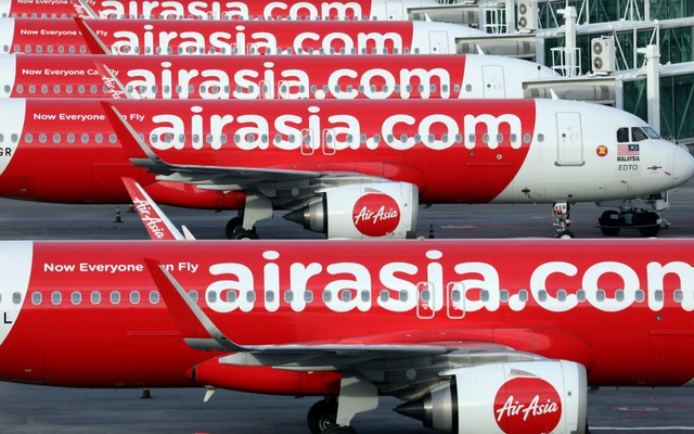 Airasia planes are seen parked at Kuala Lumpur International Airport 2, amid the coronavirus disease (COVID-19) outbreak in Sepang, Malaysia Oct 6, 2020. REUTERS