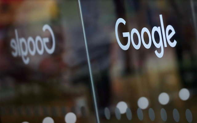The Google logo is pictured at the entrance to the Google offices in London, Britain January 18, 2019. REUTERS