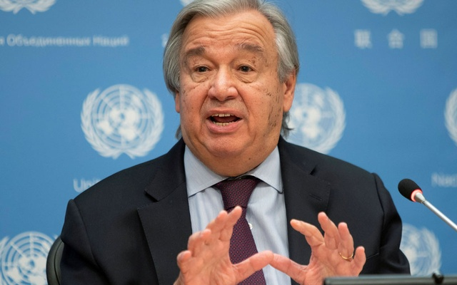 United Nations Secretary-General Antonio Guterres speaks during a news conference at UN headquarters in New York City, New York, US, November 20, 2020. Reuters