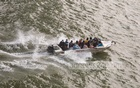 A speedboat travels from Shimulia to Kathalbari with an excessive number of passengers amid the coronavirus pandemic. Most passengers are not wearing masks or life jackets despite the risk of accidents on the Padma River. Photo: Mostafigur Rahman