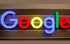 The Google sign is shown on one of the company's office buildings in Irvine, California, US, October 20, 2020. REUTERS